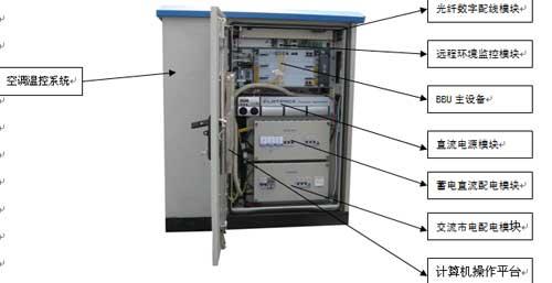 3g分布式光纤拉远绿色户外一体化机柜基站解决方案