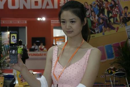 天津美女模特中国电信美女华为p2模特