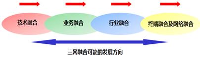 图1 三网融合可能的发展方向